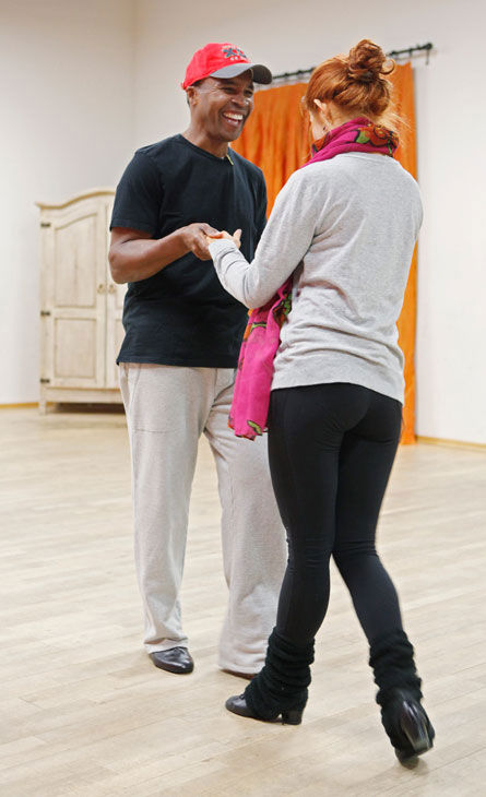 "<div class=""meta ""><span class=""caption-text "">Sugar Ray Leonard gets his dance on with partner Anna Trebunskaya during rehearsal for season 12 of 'Dancing With the Stars,' which premieres on March 21 at 8 p.m. on ABC. (ABC Photo/ Greg Zabilski)</span></div>"