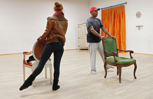 Sugar Ray Leonard and partner Anna Trebunskaya practice their toe-points during rehearsal for season 12 of 'Dancing with the Stars,' which premieres on March 21 at 8 p.m. on ABC.