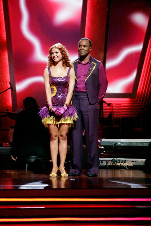 Sugar Ray Leonard and his partner Anna Trebunskaya await possible elimination. The couple received 17 out of 30 from the judges for their Jive on week 2 of 'Dancing With The Stars' on Monday, March 28, 2011. Combined with the first week scores that were a