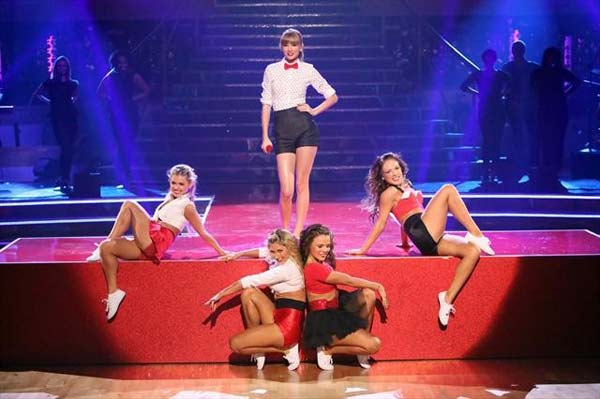 Taylor Swift performed on &#39;Dancing With The Stars: The Results Show&#39; on October 30, 2012. She sang her hit single &#39;We Are Never Ever Getting Back Together.&#39; <span class=meta>(ABC Photo)</span>