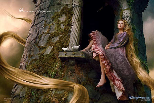 Taylor Swift plays Rapunzel in Annie Leibowitzs Disney Dream Dream Portraits series. - Provided courtesy of Disney Enterprises Inc. / Annie Leibowitz