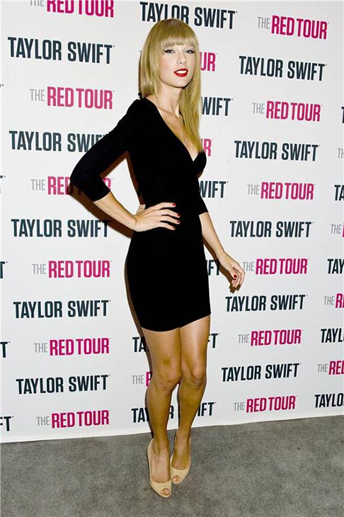 Taylor Swift arrives for the first out of four sold-out shows at Staples Center in Los Angeles, where she is continuing her 2013 RED world tour, on Aug. 19, 2013.