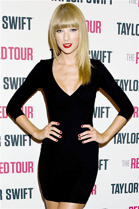 Taylor Swift arrives for the first out of four sold-out shows at Staples Center in Los Angeles, where she is continuing her 2013 RED world tour, on Aug. 19, 2013. <span class=meta>(Robert Rosano &#47; Startraksphoto.com)</span>