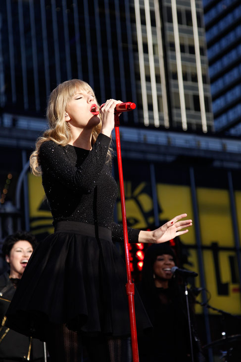 Taylor Swift performs in Times Square in New York City for ABC's 'Good Morning America' on Oct. 23, 2012 to promote her new album 'Red.'