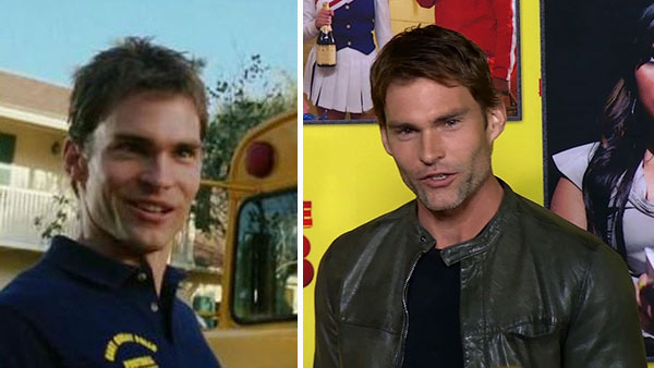 Seann William Scott appears in a scene from 'American Pie' in 1999. / Seann William Scott talks to OTRC.com at the premiere of 'Movie 43' in Los Angeles on Jan. 23, 2013.