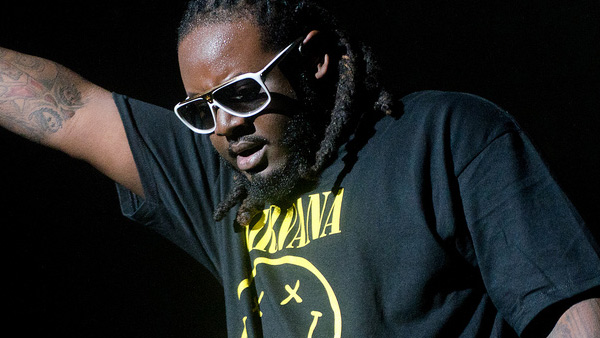 T-Pain appears in a photo performing at the...