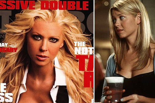 Tara Reid appears on the cover of Playboy in January 2010 / Tara Reid appears alongside Natasha Lyonne in a scene from 'American Pie' in 1999.