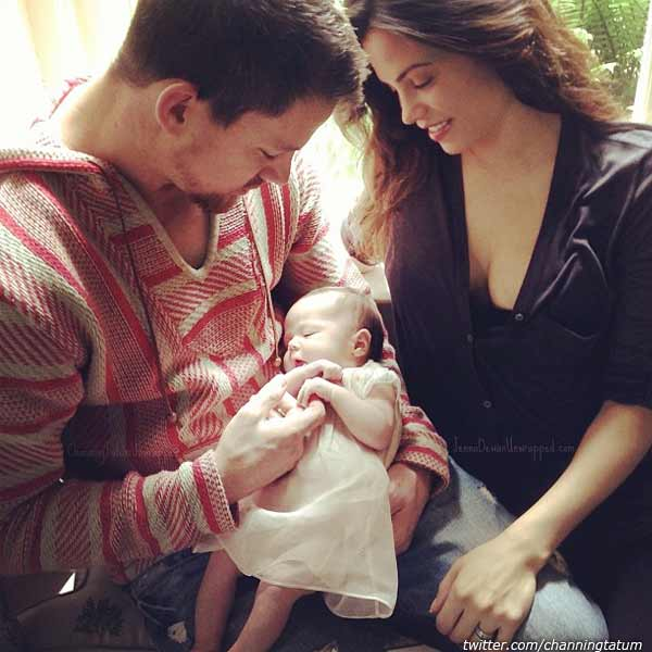 Channing Tatum and his wife, Jenna Dewan, appear in a photo with their daughter Everly posted on June 16, 2013. - Provided courtesy of twitter.com/channingtatum