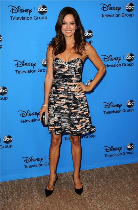 &#39;Dancing With The Stars&#39; co-host Brooke Burke-Charvet attends the Disney-ABC Television TCA panel event in Beverly Hills, California on Aug. 4, 2013. <span class=meta>(Sara De Boer &#47; startraksphoto.com)</span>