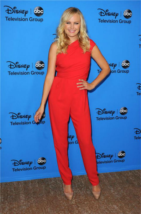 Malin Akerman, who stars in the new ABC show &#39;Trophy Wife,&#39; attends the Disney-ABC Television TCA panel event in Beverly Hills, California on Aug. 4, 2013. She is wearing a one-shoulder, red Max Mara jumpsuit. <span class=meta>(Sara De Boer &#47; startraksphoto.com)</span>