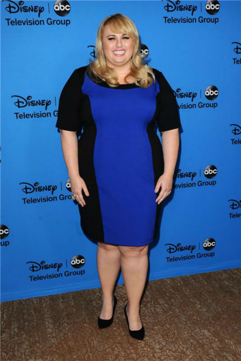 "<div class=""meta image-caption""><div class=""origin-logo origin-image ""><span></span></div><span class=""caption-text"">Rebel Wilson, a cast member on Conan O'Brien's new ABC show 'Super Fun Night,' attends the Disney-ABC Television TCA panel event in Beverly Hills, California on Aug. 4, 2013. She is wearing a black and blue Calvin Klein dress. (Sara De Boer / startraksphoto.com)</span></div>"