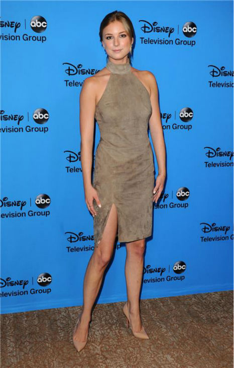 Emily VanCamp, who plays Emily Thorne on ABC&#39;s &#39;Revenge,&#39; attends the Disney-ABC Television TCA panel event in Beverly Hills, California on Aug. 4, 2013. <span class=meta>(Sara De Boer &#47; startraksphoto.com)</span>