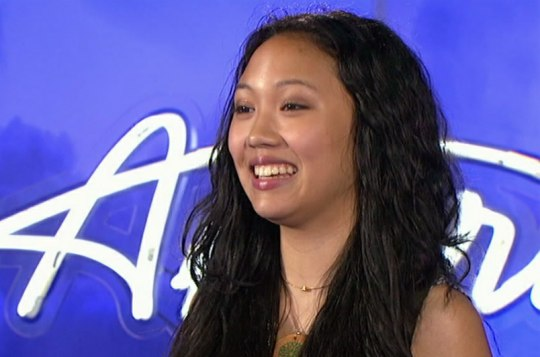 "<div class=""meta image-caption""><div class=""origin-logo origin-image ""><span></span></div><span class=""caption-text"">Thia Megia, a 15-year-old from Mountain House, CA, was made an 'American Idol' Top 24 finalist. (Pictured: Thia Megia performs in front of the judges on 'American Idol' on an episode that aired on Jan. 26, 2011.) (Michael Becker / FOX)</span></div>"