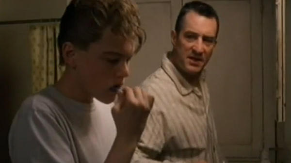 Leonardo DiCaprio and Robert De Niro appear in a scene from 'This Boy's Life.'