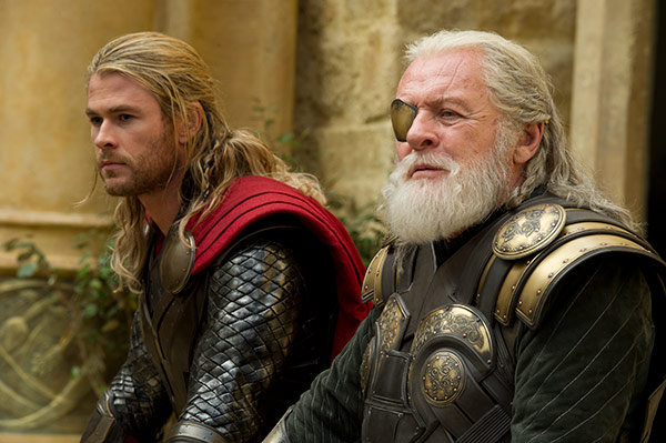 Chris Hemsworth &#40;Thor&#41; and Anthony Hopkins &#40;Odin&#41; appear in a scene from the 2013 movie &#39;Thor: The Dark World.&#39; <span class=meta>(Marvel Studios &#47; Walt Disney Studios)</span>