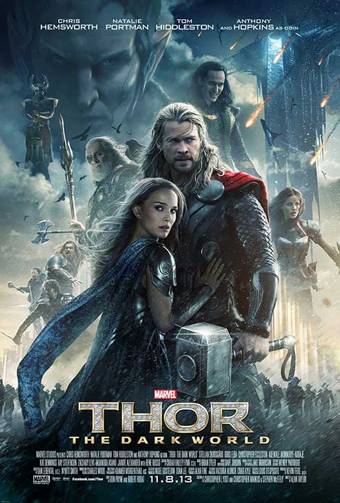 Chris Hemsworth and Natalie Portman appears in a poster for the 2013 movie &#39;Thor: The Dark World.&#39; <span class=meta>(Marvel Studios &#47; Walt Disney Studios)</span>