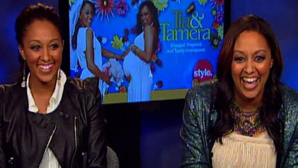 Tia (right) and Tamera (left) Mowry speak to OnTheRedCarpet.com during a satellite interview on August 5, 2011.