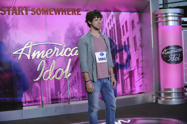 Tim Halprin, a 23-year-old from Fort Worth, TX, was made an 'American Idol' Top 24 finalist. (Pictured: Tim Halprin performs in front of the judges on 'American Idol' on an episode that aired on Feb. 3, 2011.)