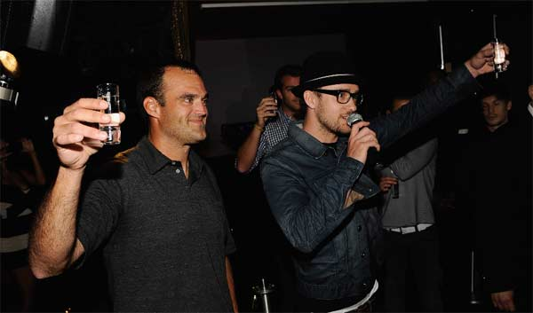 Timberlake appears at the launch party of his 901 Tequila, as seen in this photo posted on his official website.
