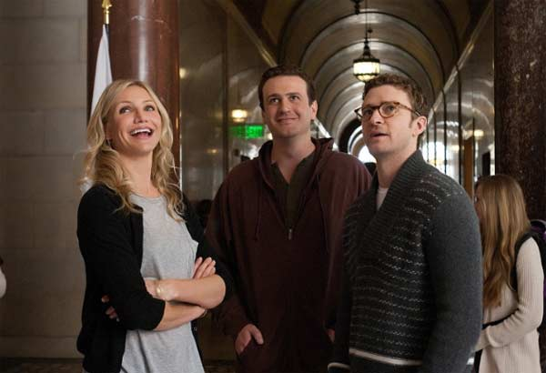 Cameron Diaz, Jason Segel and Justin Timberlake appear in a photo from the 2011 comedy 'Bad Teacher.'