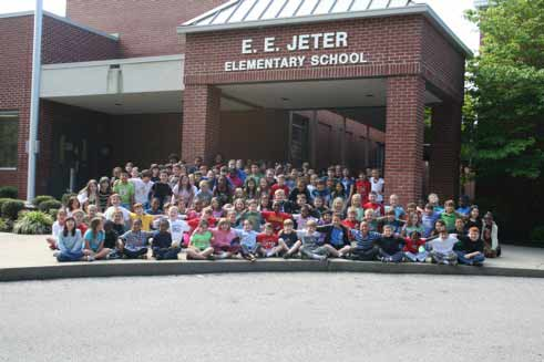 A photo of E.E. Jeter Elementary School from...