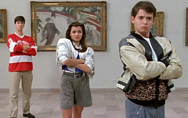 Alan Ruck, Mia Sara and Matthew Broderick appear in a scene from the 1986 film 'Ferris Bueller's Day Off.'