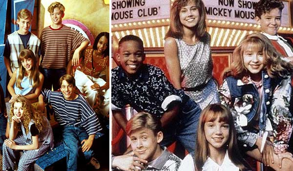 Members of the 1989 'The All New Mickey mouse Club' appear in a photo.
