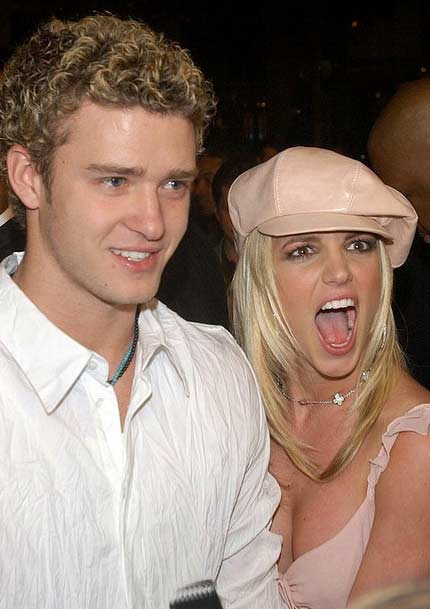 Justin Timberlake and Britney Spears appear in this undated photo.