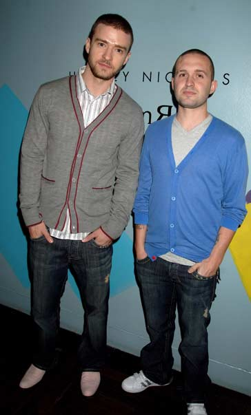 Justin Timberlake and co-founder Trace Ayala attend the UK launch of the 2007 William Rast collection, all dressed in William Rast apparel.