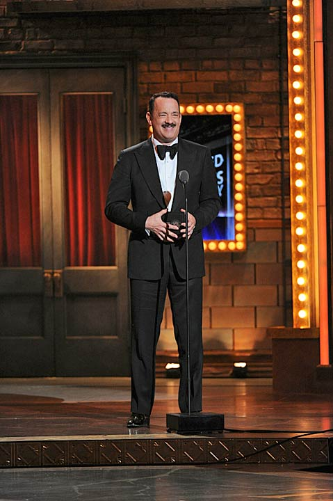 "<div class=""meta image-caption""><div class=""origin-logo origin-image ""><span></span></div><span class=""caption-text"">Tom Hanks' Broadway debut  Tom Hanks presents an award during the 2013 Tony Awards at Radio City Music Hall in New York City, Sunday, June 9.  While the actor received his first Tony nod for 'Best Actor in a Leading Role in a Play' at the 67th annual ceremony, he lost the honor to Tracy Lett's of 'Who's Afraid of Virginia Woolf?' (CBS / Heather Wines)</span></div>"