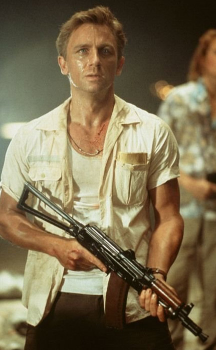 Daniel Craig had small parts in the 2001 film &#39;Lara Croft: Tomb Raider&#39; and the 2002 film &#39;Road to Perdition.&#39;&#40;Pictured: Daniel Craig appears in a scene from the 2001 film &#39;Lara Croft: Tomb Raider.&#39;&#41; <span class=meta>(Paramount Pictures)</span>