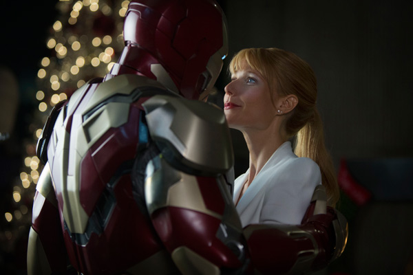 Gwyneth Paltrow and Iron Man appear in a scene...