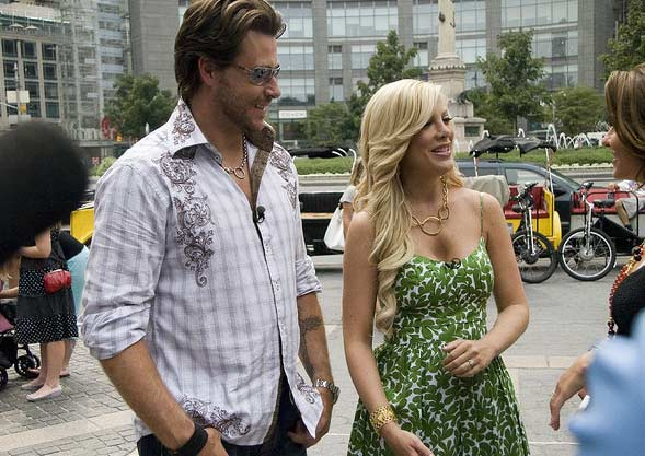 Tori Spelling and Dean McDermott appear in a photo at Columbus Circle on Aug. 7, 2007.