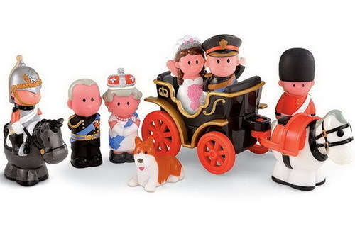 A children&#39;s royal wedding toy set going for &#36;49.27 as of April 27, 2011.  <span class=meta>(Ebay user ritaria&#47; myworld.com&#47;ebay&#47;ritaria)</span>