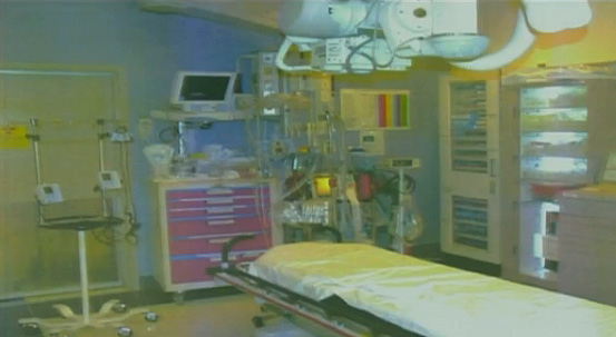 The UCLA Medical Center emergency room where doctors treated Michael Jackson just before he was pronounced dead at 2:26 p.m. on June 25, 2009. This picture was shown at Conrad Murray&#39;s involuntary manslaughter trial. <span class=meta>(OTRC)</span>