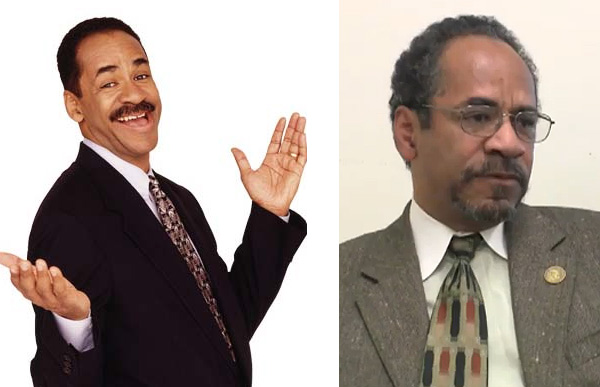 Tim Reid appears in a promotional photo for the TV show, 'Sister, Sister.' / Tim Reid appears at the 2010 briefing, 'Net Neutrality: Why It's Critical for Communities of Color,' as seen in this video still captured by the group Free Press.