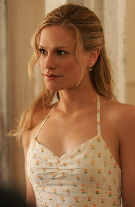Anna Paquin told Nylon Magazine in 2009 that the nude scenes in &#39;True Blood&#39; were not a big deal for her. The Canadian actress said:  &#39;I don&#39;t think a naked body is particularly shocking or interesting. It&#39;s not the culture I was raised in. I don&#39;t share the attitude that you can have graphic violence, but - God forbid - you see someone&#39;s nipples.&#39;&#40;Pictured: Anna Paquin appears in a scene from the TV show &#39;True Blood.&#39;&#41; <span class=meta>(HBO)</span>