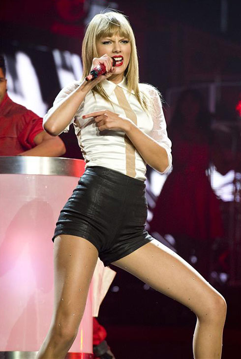 Taylor Swift performs on stage during the first out of four sold-out shows at Staples Center in Los Angeles, where she is continuing her 2013 RED world tour, on Aug. 19, 2013. <span class=meta>(Robert Rosano &#47; Startraksphoto.com)</span>