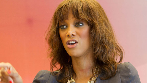 Tyra Banks appears in a photo from the Notebook mentoring session in October 2011.