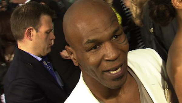 Mike Tyson speaks to OnTheRedCarpet.com about 'The Hangover Part 2' at the Los Angeles premiere of the movie in May 2011.
