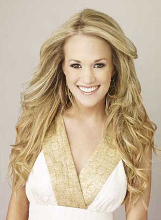 Carrie Underwood in a promotional still on her personal MySpace.