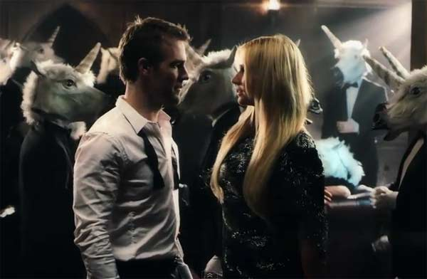 James Van Der Beek appears in Ke&#36;ha&#39;s music video &#39;Blow,&#39; released in 2011. Van Der Beek plays Ke&#36;ha&#39;s nemesis in the video, and the two avoid each other for the first half of the video, exchanging mysterious looks and glances. In the middle, the two meet on the floor, and exchange fighting words before engaging in a gun fight, which involves the use of rainbows. Van Der Beek is known for his role in the TV show &#39;Dawson&#39;s Creek.&#39; <span class=meta>(RCA Records, a unit of Sony Music Entertainment)</span>