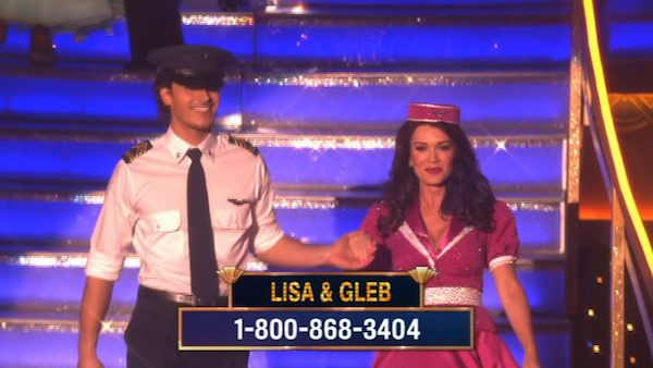 &#39;Real Housewives of Beverly Hills&#39; star Lisa Vanderpump and her partner Gleb Savchenko prepare to dance on week 2 of &#39;Dancing With The Stars,&#39; which aired on March 25, 2013. <span class=meta>(ABC Photo &#47; Adam Taylor)</span>