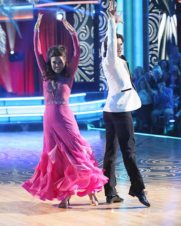 "<div class=""meta ""><span class=""caption-text "">'Real Housewives of Beverly Hills' star Lisa Vanderpump and her partner Gleb Savchenko received 18 out of 30 points from the judges for their Foxtrot routine on the season premiere of 'Dancing With The Stars,' which aired on March 18, 2013. (ABC Photo / Adam Taylor)</span></div>"