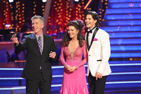 &#39;Real Housewives of Beverly Hills&#39; star Lisa Vanderpump and her partner Gleb Savchenko received 18 out of 30 points from the judges for their Foxtrot routine on the season premiere of &#39;Dancing With The Stars,&#39; which aired on March 18, 2013. <span class=meta>(ABC Photo &#47; Adam Taylor)</span>