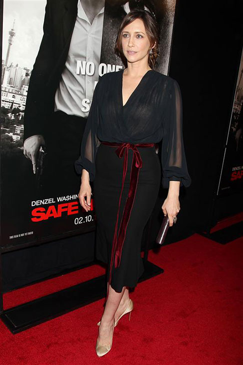 Vera Farmiga wears a L&#39;Wren Scott dress at the premiere of &#39;Safe House&#39; in New York on Feb. 7, 2012. <span class=meta>(Dave Allocca &#47; Startraksphoto.com)</span>