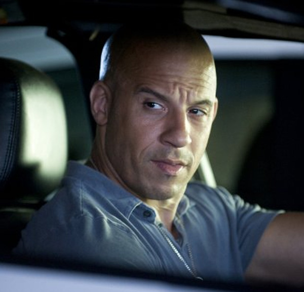 Vin Diesel appears in a scene from the 2011 film 'Fast Five.'