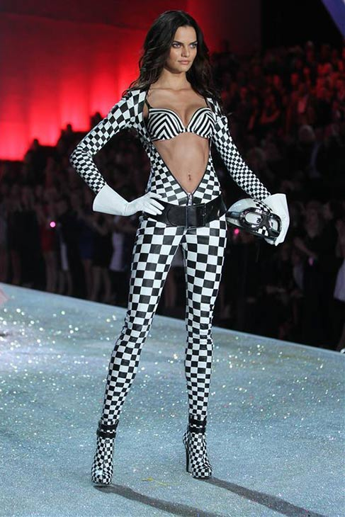 Hilary Rhoda walks the runway at the 2013 Victoria&#39;s Secret Fashion Show at the Lexington Armory in New York on Nov. 13, 2013. <span class=meta>(Amanda Schwab &#47; Startraksphoto.com)</span>