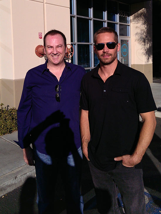 Paul Walker appears with a Bill Townsend, a CEO and founder of PacAirVentures &#40;which develops entertainment centers&#41; at a car event and toy drive in Valencia, California at 3 p.m. PT on Nov. 30, 2013 - about half an hour before the actor and a friend, Roger Rodas, died in a car crash nearby. <span class=meta>(Bill Townsend &#47; OTRC)</span>