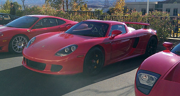 The 2005 Porsche Carrera GT that carried actor Paul Walker and friend Roger Rodas is pictured on Nov. 30, 2013, hours before Walker and Rodas took it for a ride and crashed in Valencia, California. <span class=meta>(Bill Townsend &#47; OTRC)</span>